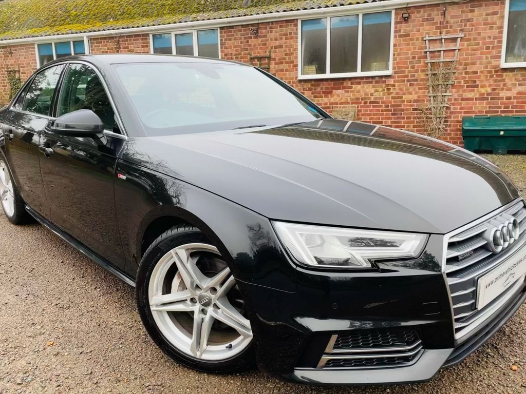 USED 2017 17 AUDI A4 2.0 TDI 190 Quattro 4WD S-Line S-Tronic Euro6 4dr