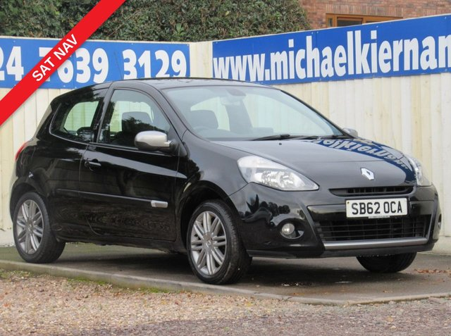 USED 2012 62 RENAULT CLIO 1.1 DYNAMIQUE TOMTOM 16V 3d 75 BHP NICE CLEAN CAR