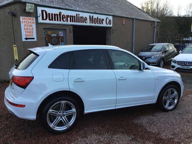 USED 2015 65 AUDI Q5 2.0 TDI QUATTRO S LINE PLUS 5d 175 BHP ++STUNNING IN WHITE +LOW MILEAGE++