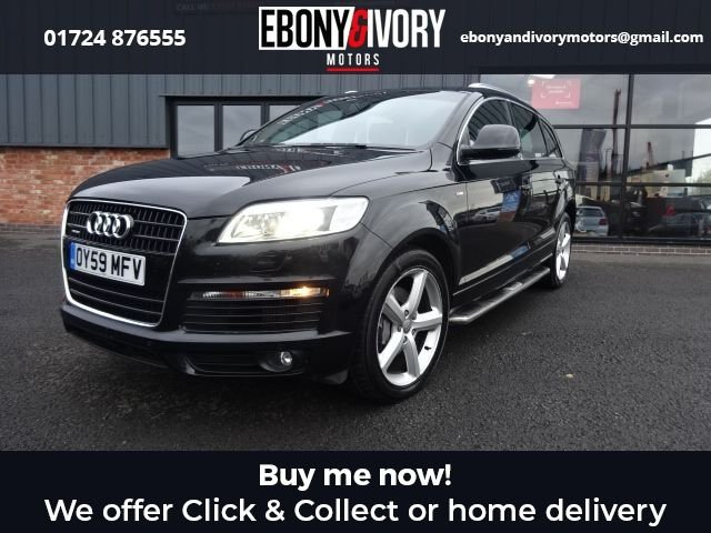 USED 2009 59 AUDI Q7 3.0 TDI QUATTRO S LINE 5d 240 BHP EXCELLENT EXAMPLE+FULLY SERVICED+1 YEAR MOT+BREAKDOWN COVER