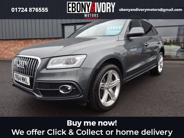 USED 2014 64 AUDI Q5 2.0 TDI QUATTRO S LINE PLUS 5d 175 BHP EXCELLENT EXAMPLE+FULLY SERVICED+1 YEAR MOT+BREAKDOWN COVER