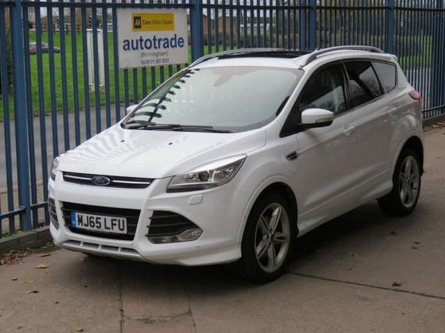 USED 2015 65 FORD KUGA 2.0 TITANIUM X SPORT TDCI 5d 148 BHP Sat Nav - Panoramic Electric Roof -Full Heated Black Leather