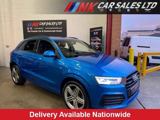 USED 2015 65 AUDI Q3 2.0 TDI QUATTRO S LINE PLUS 5d 182 BHP FULL NAPPA LEATHER SAT NAV HEATED SEATS  REVERSE CAMERAS  SOLD TO ARTHUR ROSE FROM CHESTERFIELD