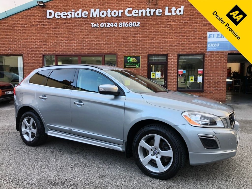 USED 2012 12 VOLVO XC60 2.4 D3 R-DESIGN AWD 5d 161 BHP Volvo service history  :   Bluetooth  :   Sat Nav   :   DAB Radio   :   R-Design leather upholstery  +  steering wheel   :             Heated front seats    :     Volvo City Safety system  /  Hill Descent control system     :        Rear parking sensors   :   Remotely operated tailgate
