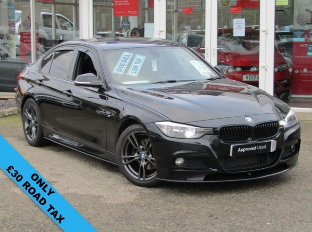 "USED 2014 64 BMW 3 SERIES 2.0 320D M SPORT 4d 181 BHP Finished in BLACK SAPPHIRE with contrasting FULL LEATHER trim. This BMW is practical, economical and pretty good fun to drive. It packs a punch and with features that include £30 Road Tax, SAT NAV, FULL LEATHER Seats, B/TOOTH, 18"" Alloys, Cruise Control, PARK SENSORS it's a must have prestige family saloon. Comes Serviced and with 12 Months MOT."