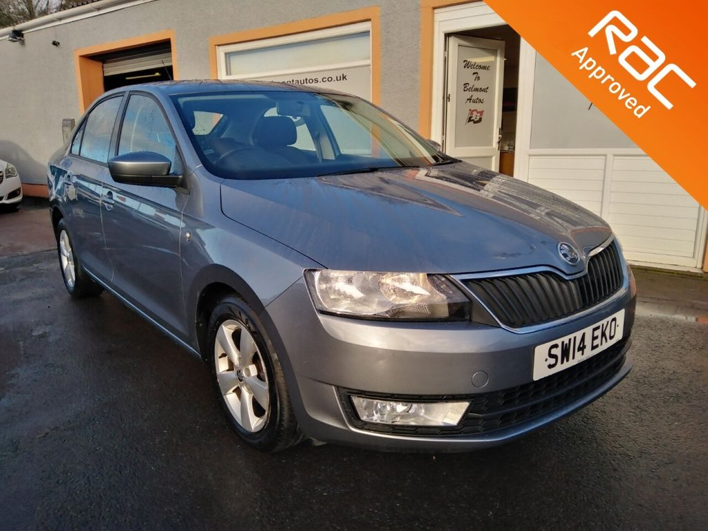 "USED 2014 14 SKODA RAPID 1.2 SE TSI 5d 85 BHP 15"" Alloys, Air Con, Radio CD, Free RAC Warranty!"