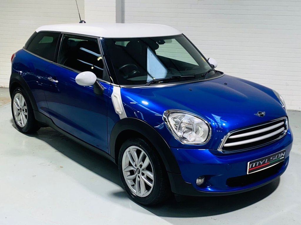 USED 2013 13 MINI MINI PACEMAN 1.6 COOPER 3d 122 BHP DUE IN.. Starlight Blue with Hot Cross/Leather Interior, Piano Gloss Black Trim, Privacy Glass