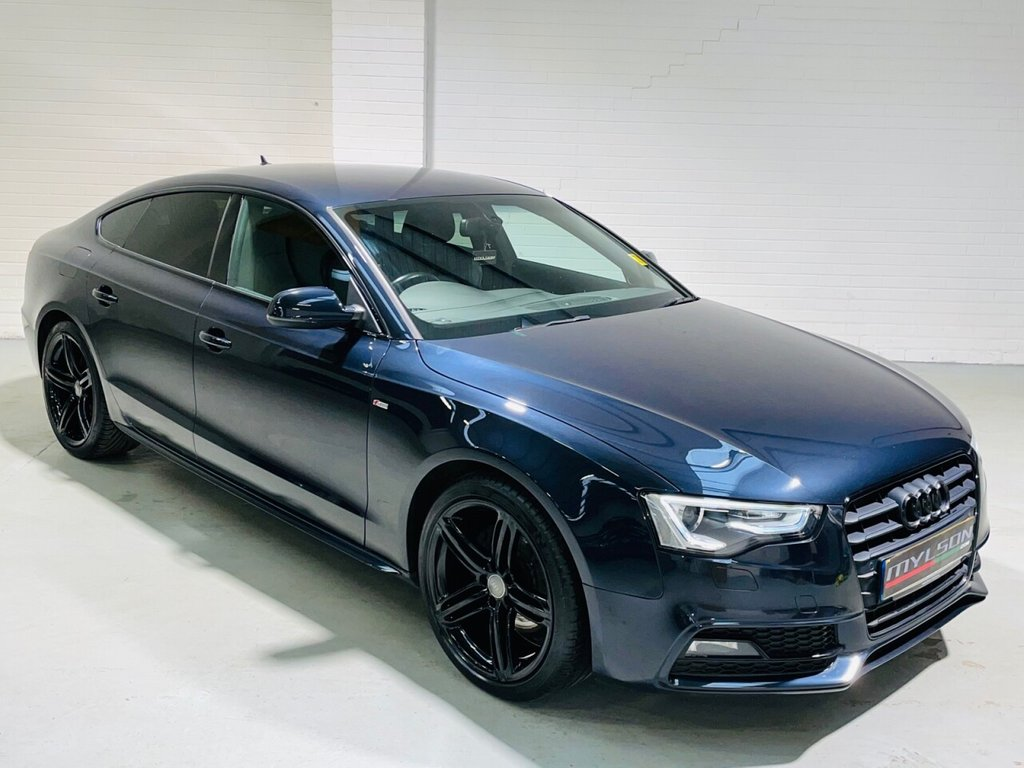 USED 2013 63 AUDI A5 2.0 SPORTBACK TDI BLACK EDITION S/S 5d 175 BHP Audi Exclusive Leather Interior, Technology Pack, 1 Owner, Full Audi Service History