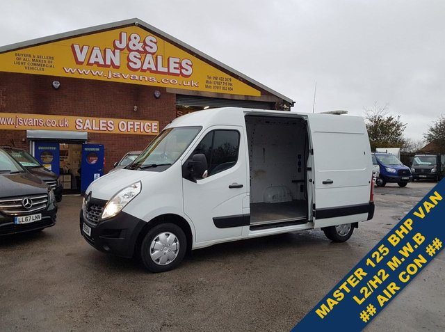 USED 2016 16 RENAULT TRUCKS MASTER 125.35 L2H2 125 BHP BUSINESS SENSORS & AIR CON  ###### BIG STOCK EURO 5/6 OVER VANS OVER 100 ON SITE #######