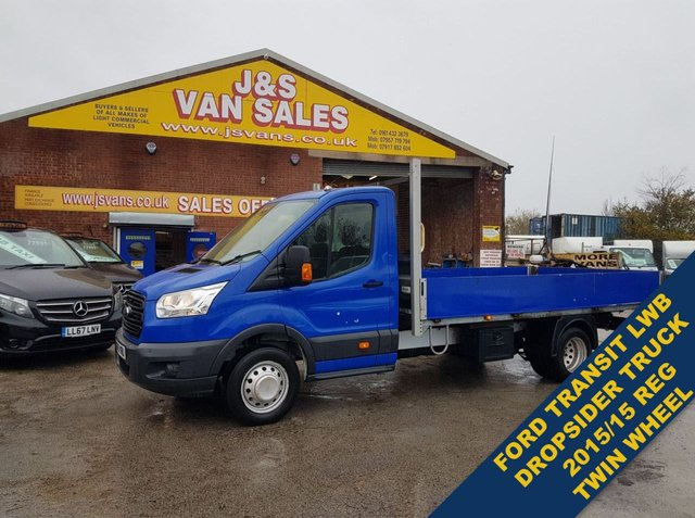 USED 2015 15 FORD TRANSIT T350 L.W.B DROPSIDE TRUCK TWIN WHEEL PICKUP ###### BIG STOCK EURO 5/6 OVER VANS OVER 100 ON SITE #######