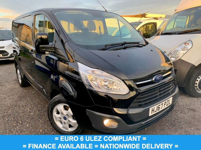 USED 2017 67 FORD TRANSIT CUSTOM 2.0 270 LIMITED LR P/V 129 BHP BLACK / EURO 6 / TOP SPEC / FINANCE AVAILABLE