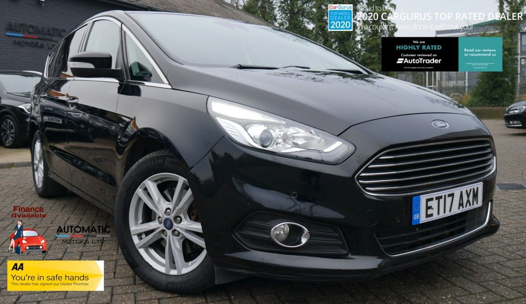 USED 2017 17 FORD S-MAX 2.0 TITANIUM TDCI 5d 148 BHP 2017 FORS S-MAX 1 OWNER FROM NEW, BLUETOOTH, CRUISE CONTROL, SAT NAV, FULL SERVICE HISTORY, AUX/USB, PARKING SENSORS
