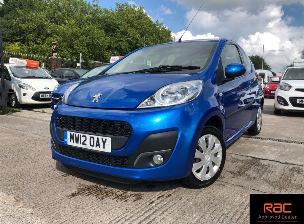 USED 2012 12 PEUGEOT 107 1.0 ACTIVE 3d 68 BHP LOVELY ELECTRIC BLUE 107