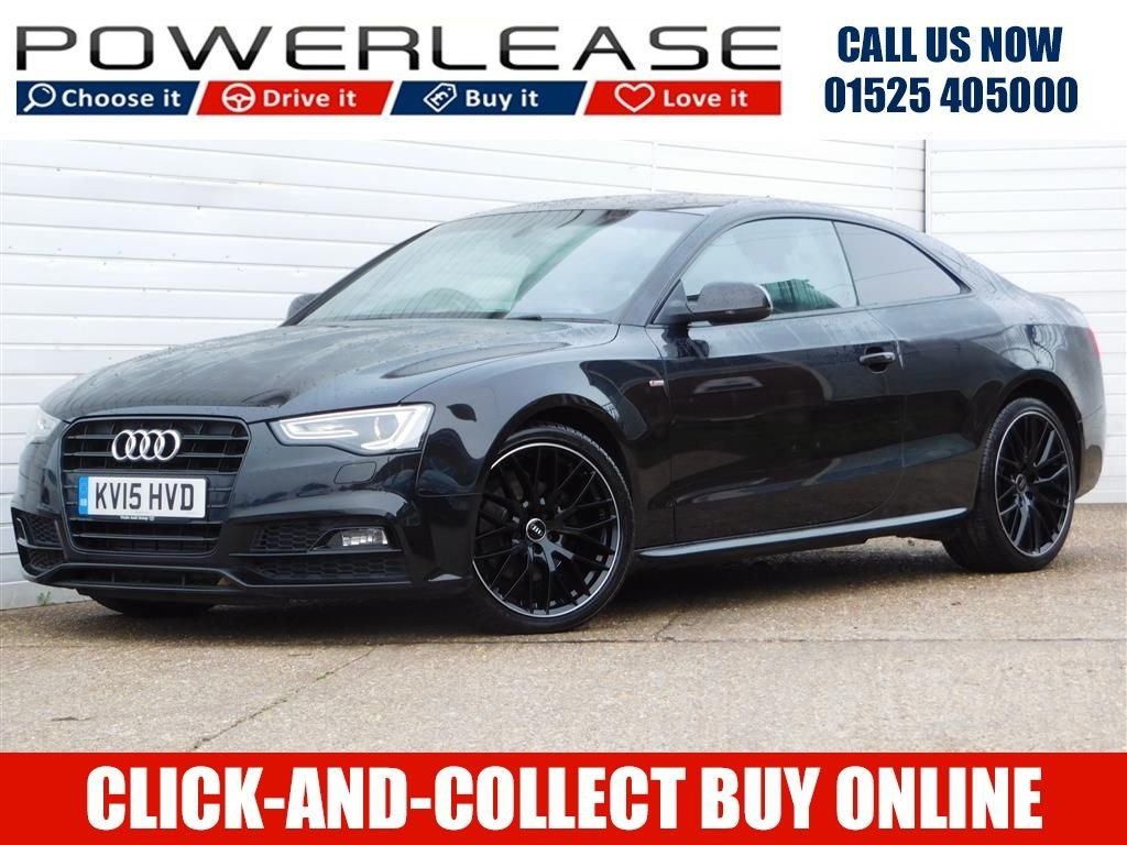 USED 2015 15 AUDI A5 2.0 TDI BLACK EDITION PLUS 2d 177 BHP HEATED LEATHER 30 POUND TAX