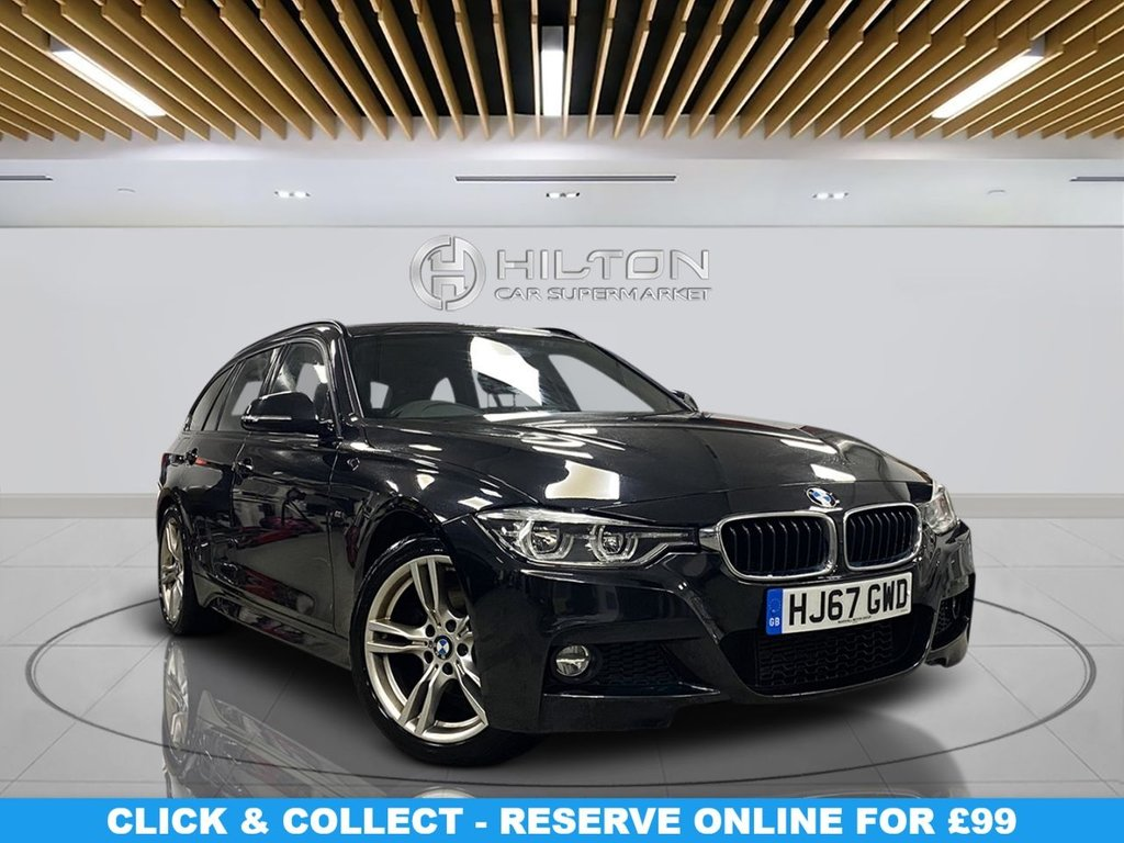 """USED 2017 67 BMW 3 SERIES 2.0 320D M SPORT TOURING 5d 188 BHP 18"""" Alloys, M Sport Package, Navigation System, Parking Sensors, Leather Upholstery, Climate Control,"""