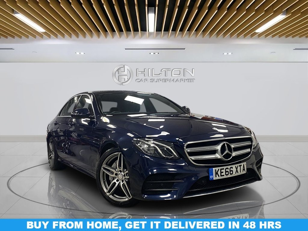 "USED 2017 66 MERCEDES-BENZ E-CLASS 2.0 E 220 D AMG LINE 4d 192 BHP Navigation System, Half-Leather Seats, 19"" Alloy Wheels, Parking Sensor(s), Privacy Glass, Climate Control"