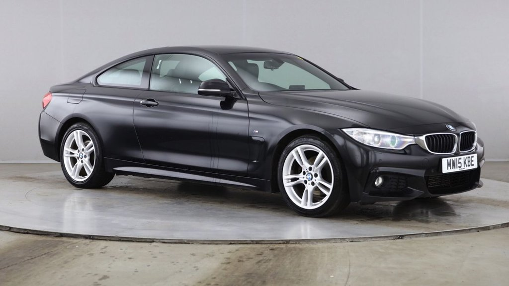 USED 2015 15 BMW 4 SERIES 2.0 420D M SPORT 2d 188 BHP 1 OWNER + ONLY 67K + HUGE SPEC + STUNNING CAR