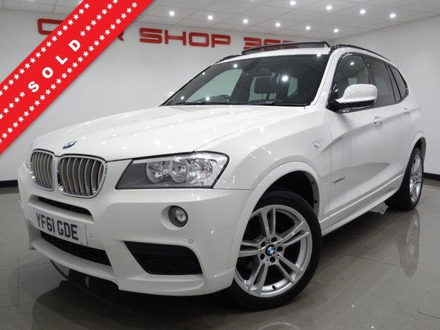 USED 2012 61 BMW X3 3.0 30D (258 BHP) M SPORT XDRIVE STEP AUTO 5DR..NAV..PANORAMIC SUNROOF..HEATED LEATHERS..CRUISE..19 INCH ALLOYS..PARK AID..PRIVACY..HIGH SPEC !! PAN SUNROOF19 S+PARK AID+HEATED LEATHERS+NAV+CRUISE