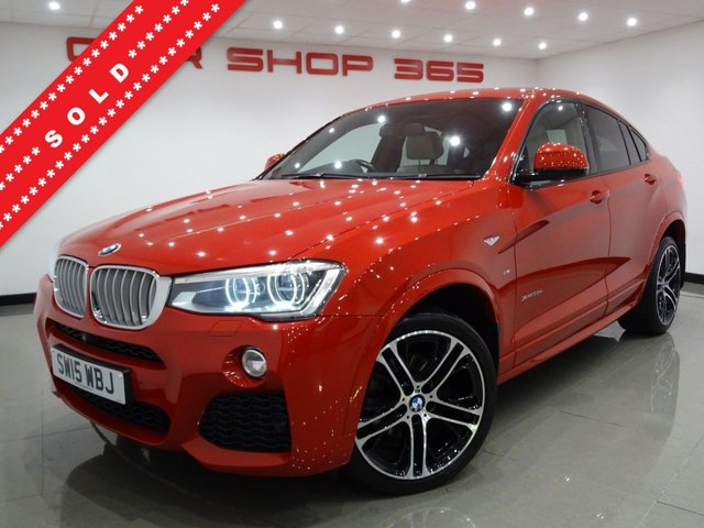 USED 2015 15 BMW X4 3.0 35D (313 BHP)  M SPORT XDRIVE STEP AUTO 5DR..PRO NAV..HEAD UP DISPLAY....HEATED LEATHERS..CRUISE..R/CAM..360 CAMERA..XENONS..COMFORT PACK..PRIVACY..POWER BOOT 20 S+360 CAM+LEDS+LEATHR+NAV+CRUIS+HEAD UP+HARMAN K