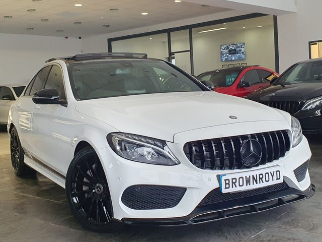 USED 2016 16 MERCEDES-BENZ C-CLASS 2.1 C250 D AMG LINE 4d 204 BHP BRM BODY STYLING+PAN ROOF