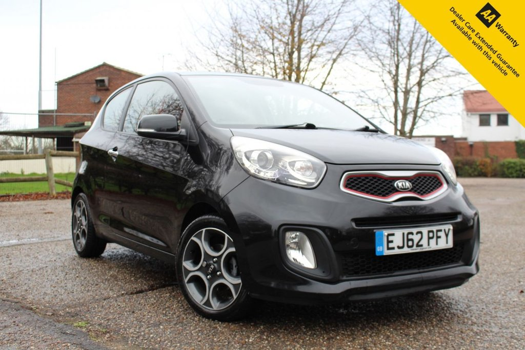 USED 2012 62 KIA PICANTO 1.2 EQUINOX 3d 84 BHP ** FRESHLY SERVICED ** LONG ADVISORY FREE MOT - OCTOBER 2021 ** BRAND NEW FRONT BRAKE PADS + DISCS ** LEATHER INTERIOR ** AUTOMATIC LIGHTS ** BLUETOOTH + AUDIO STREAMING ** POWER BUTTON START ** POWER FOLD ELECTRIC MIRRORS ** BRAND NEW FRESHLY REFURBISHED DIAMOND CUT ALLOY WHEELS ** CLIMATE CONTROL ** ONLY £20 ROAD TAX ** LOW INSURANCE GROUP **ULEZ CHARGE EXEMPT ** CLICK & COLLECT + NATIONWIDE DELIVERY OPTIONS AVAILABLE **