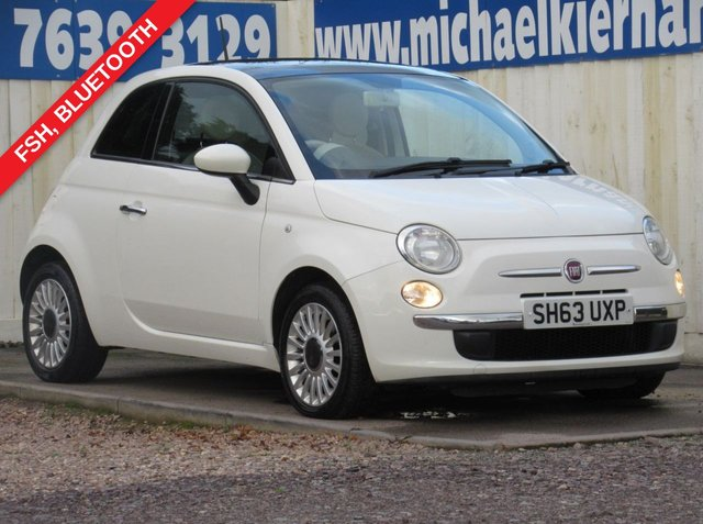 USED 2014 63 FIAT 500 1.2 LOUNGE 3d 69 BHP EXCELLENT CONDITION