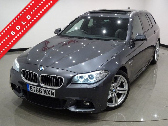 USED 2016 66 BMW 5 SERIES 2.0 520D (188 BHP) M SPORT STEP AUTO TOURING 5DR..NAV..HARMAN KARDON..PANORAMIC E/SUNROOF..HEATED LEATHERS...CRUISE..XENONS..PRIVACY..E/BOOT..HIGH SPEC !! 19 S+XENON+TINTS+PARK+H-LEATHER+NAV+CRUISE+HARMAN K