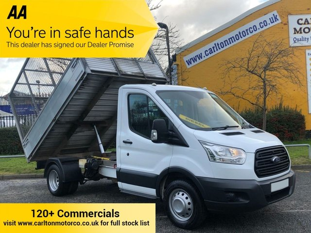 2014 14 FORD TRANSIT 350TDCi 125 L2 CAGED TIPPER REFUGE BODY DRW