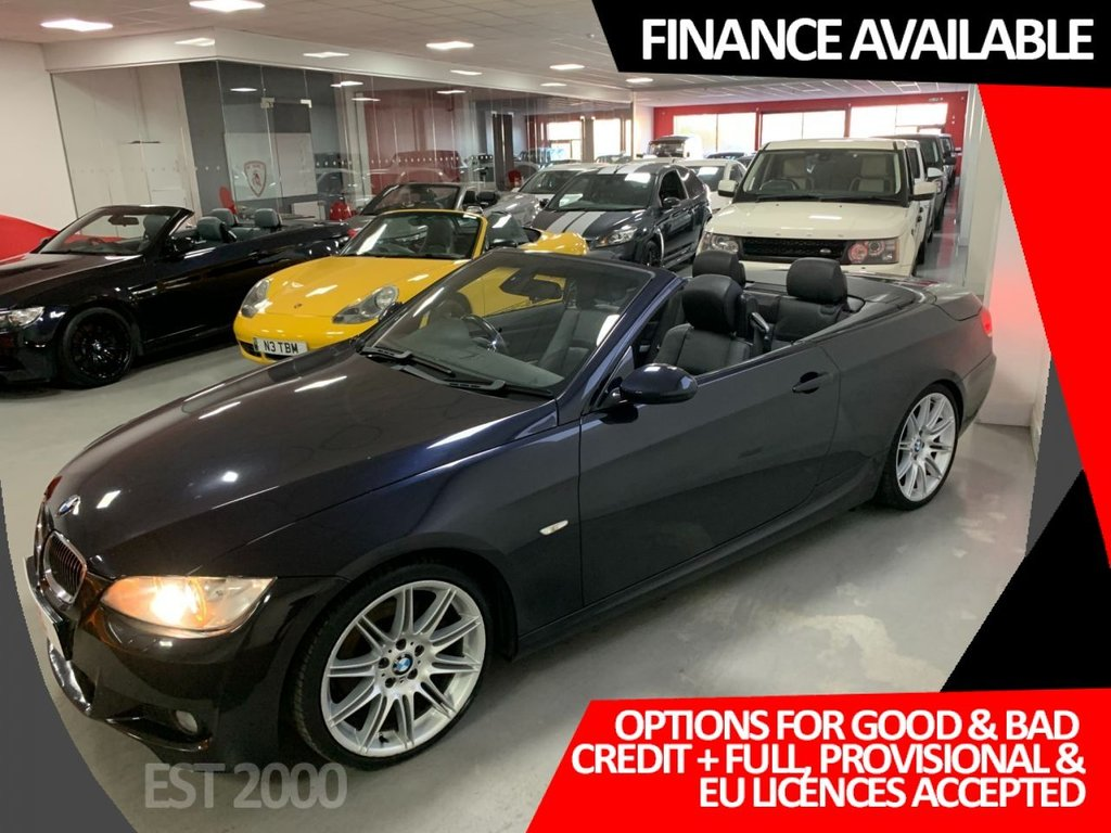 USED 2008 57 BMW 3 SERIES 3.0 325D M SPORT 2d 195 BHP * HEATED LEATHER SEATS * PADDLE SHIFT * 19 INCH ALLOY WHEELS *