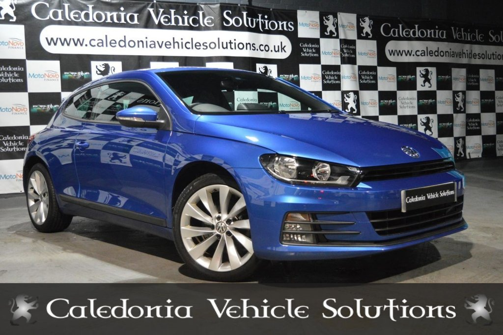 USED 2017 67 VOLKSWAGEN SCIROCCO 2.0 GT TSI BLUEMOTION TECHNOLOGY 2d 178 BHP ONE OWNER FROM NEW with FULL SERVICE HISTORY & 12 MONTHS FRESH MOT, THIS CAR IS IN EXCELLENT CONDITION AND BEAUTIFULLY PRESENTED IN RISING BLUE METALLIC