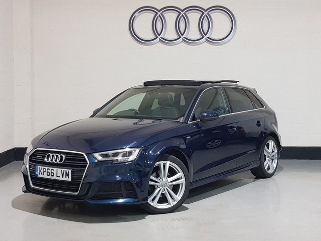 USED 2016 66 AUDI A3 2.0 TDI QUATTRO S LINE NAV 5d 148 BHP 1 Owner/ Panoramic Roof/ Sat-Nav/ Cruise/ Privacy Glass