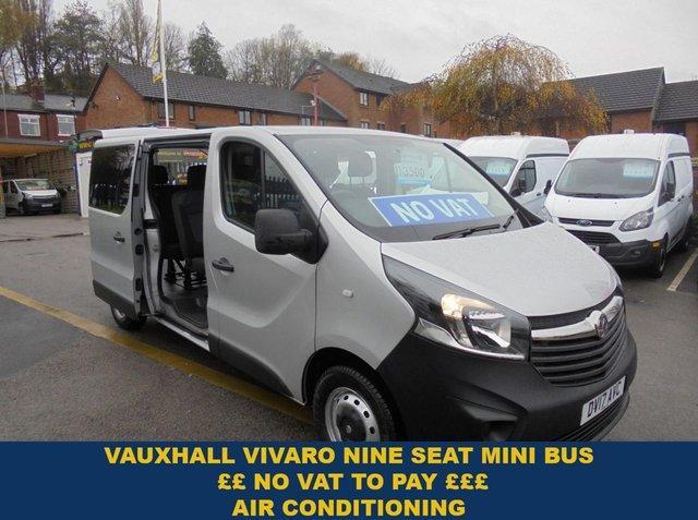 USED 2017 17 VAUXHALL VIVARO 1.6 CDTI BITURBO S/S 125 BHP L2 H1 LONG WHEEL BASE ONLY 28,000 MILES WITH NO VAT TO PAY ELECTRIC PACK AIR CON METALLIC SILVER FINANCE AVAILABLE