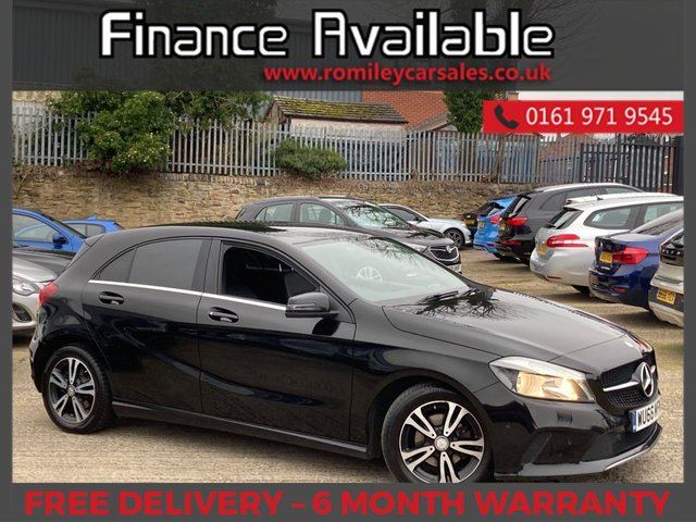 """USED 2016 66 MERCEDES-BENZ A-CLASS 1.5 A 180 D SE EXECUTIVE 5d 107 BHP FULL SERVICE RCORD - FULL LEATHER INTERIOR - 17"""" ALLOY WHEELS - BLUETOOTH"""