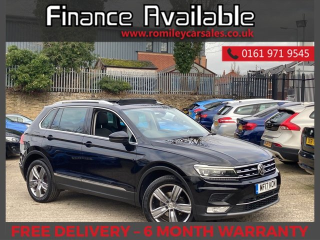 "USED 2017 17 VOLKSWAGEN TIGUAN 2.0 SEL TDI BMT 5d 148 BHP FULL SERVICE RECORD - PANORAMIC ROOF - SEAT MASSAGE - BLUETOOTH - DIGITAL COCKPIT - 18"" ALLOYS"