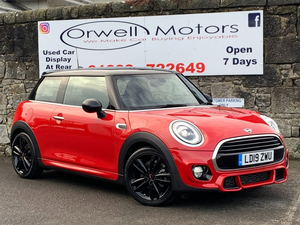 USED 2019 19 MINI HATCH COOPER 1.5 COOPER SPORT 3d 134 BHP BALANCE OF MANUFACTURERS WARRANTY TILL MAR 2022+JCW BODY STYLING+COMFORT PACK+REAR PARKING AID+HEATED FRONT SPORTS SEATS