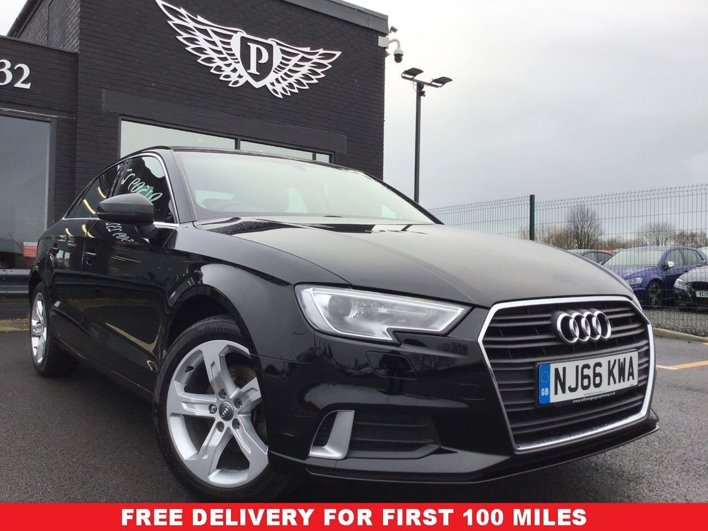 USED 2016 66 AUDI A3 1.6 TDI SPORT 4d 109 BHP CLEAN EXAMPLE , LOW MILEAGE