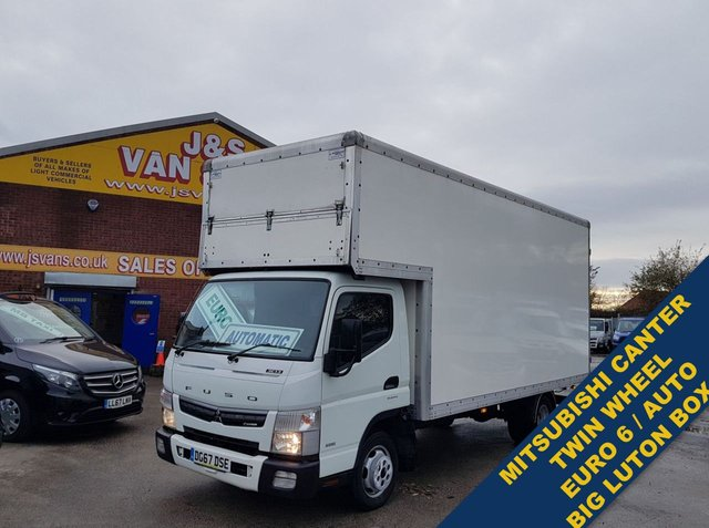 USED 2017 67 MITSUBISHI FUSO CANTER 3.0 3C130 EXTRA JUMBO LUTON T/WHEEL AUTO  EURO 6 ###### BIG STOCK EURO 5/6 OVER VANS OVER 100 ON SITE #######