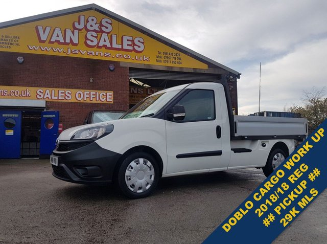 USED 2018 18 FIAT DOBLO MULTIJET II DROPSIDE ALLOY BODY LOW MLS 29K EURO 6  ###### BIG STOCK EURO 6 OVER VANS OVER 100 ON SITE #######