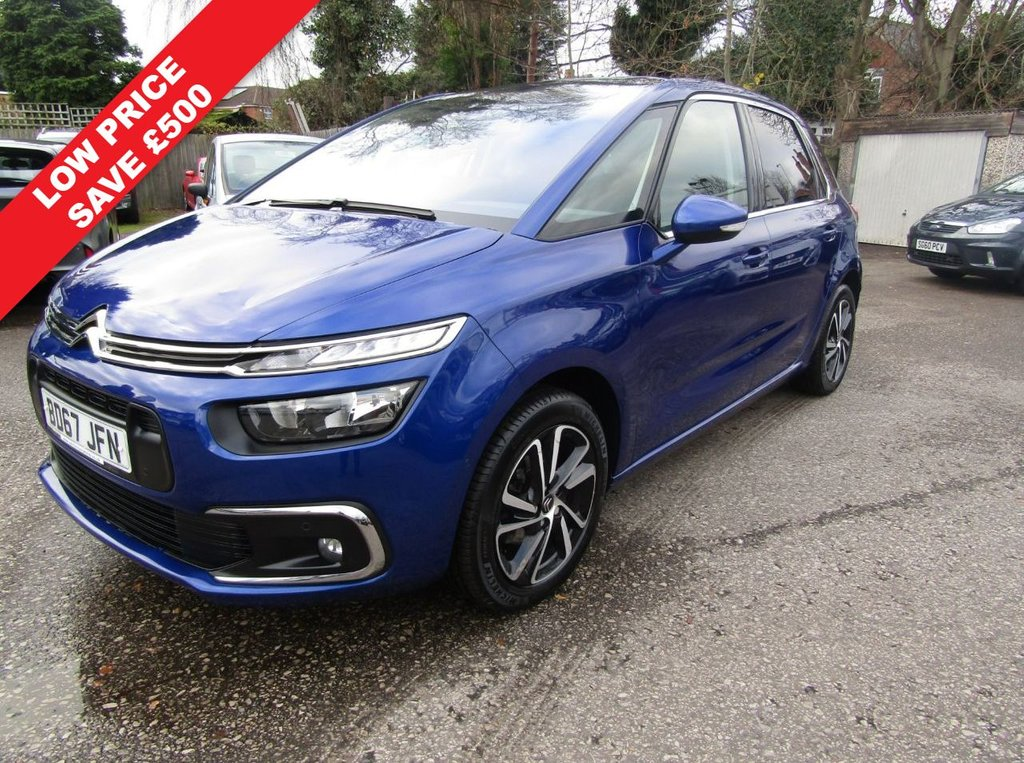 USED 2017 67 CITROEN C4 PICASSO 1.2 PURETECH FEEL 5d 129 BHP AUTOMATIC ONE OWNER EX MOTABILITY,,FULL SERVICE HISTORY,,PETROL AUTOMATIC,,GREAT ECONOMY,,SPEC INCLUDES SAT NAV,, FRONT AND REAR PARKING SENSORS,,POWER FOLDING MIRRORS,,CRUISE CONTROL  AND MUCH MORE,,PART EXCHANGE WELCOME,, COMPETATIVE FINANCE PACKAGES AVAILABLE.