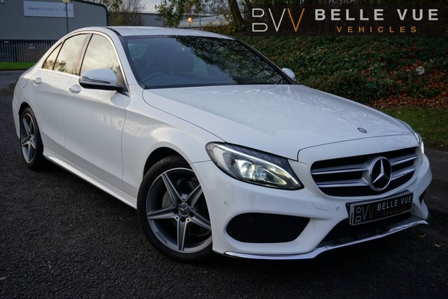 USED 2016 16 MERCEDES-BENZ C-CLASS 2.1 C220 D AMG LINE 4d 170 BHP - FREE DELIVERY* *£30 TAX, TOUCHPAD MEDIA, REVERSE CAMERA, MUST SEE!*