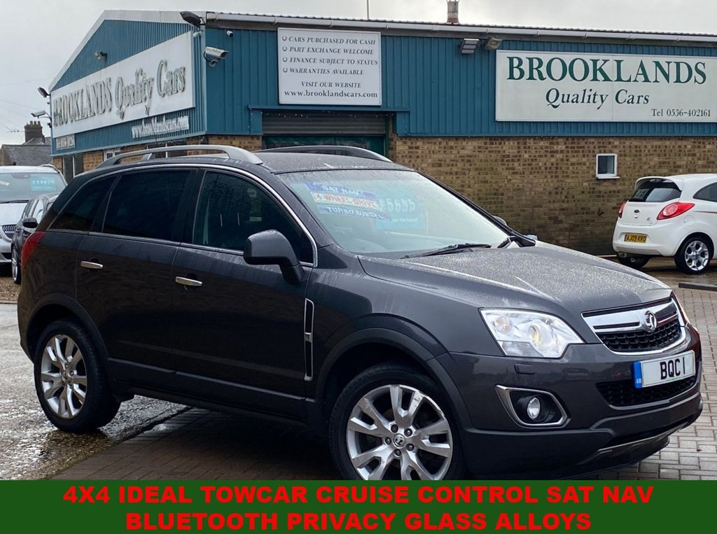 USED 2013 62 VAUXHALL ANTARA 2.2 SE NAV CDTI 4WD S/S Smoke Grey Metallic Heated Front Seats 161 BHP 4x4 Ideal Towcar Cruise Control Sat Nav Bluetooth Privacy Glass Alloys