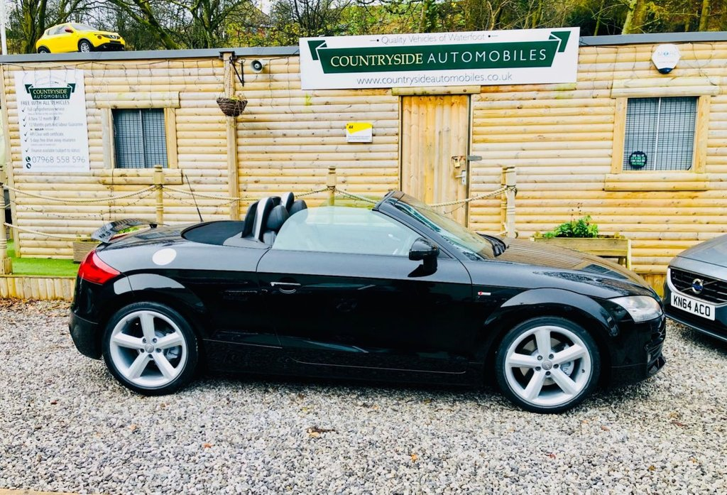 USED 2009 09 AUDI TT 2.0 TDI QUATTRO S LINE 2d 170 BHP Here we have a lovely example of nice specification Audi tt, finished in black with half leather/ Alcantara, upgraded alloy wheels, Quattro 4 x 4 model with embossed seats, this car comes with a full service history and looks and drives superb. the sale price is all inclusive with no admin fees and also includes a 2 year parts and labour guarantee , a full service and a new MOT  #   LINK TO INTERIOR VIDEO # https://youtu.be/Gvx2wN32RKA #  LINK TO EXTERIOR VIDEO # https://youtu.be/qVU-5BsYVeE