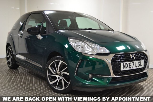 USED 2017 67 DS DS 3 1.6 BLUEHDI CONNECTED CHIC S/S 3d 98 BHP STUNNING DS3 IN GREAT COLOUR COMBO