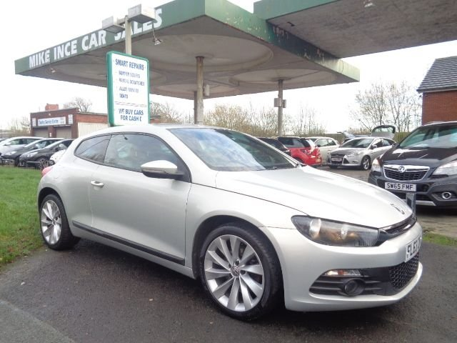 USED 2013 63 VOLKSWAGEN SCIROCCO 2.0 GT TDI 2d 175 BHP BLACK HEATED LEATHER
