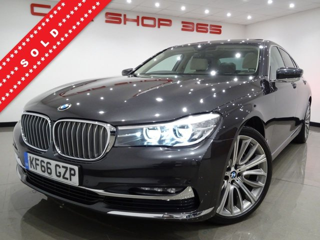 USED 2016 66 BMW 7 SERIES 3.0 730D (265 PS) EXCLUSIVE AUTO 4DR..NAV..E/SUNROOF..DIAMOND QUILTED NAPPA..LEATHER..SOFT CLOSE DOORS..LEDS..20 S..REAR SEAT COMFORT PACK..CRUISE..POWER BOOT SROOF+20 S+LED+CAM+TINTS+MASSAGE LEATHR+NAV+SOFT CL