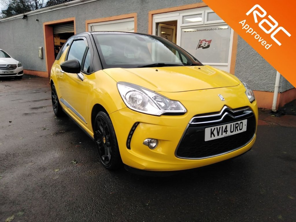 """USED 2014 14 CITROEN DS3 1.6 E-HDI DSTYLE PLUS 3d 90 BHP 17"""" Alloys, Cruise Control, CD/AUX, Parking Sensors, Front Fog lights."""
