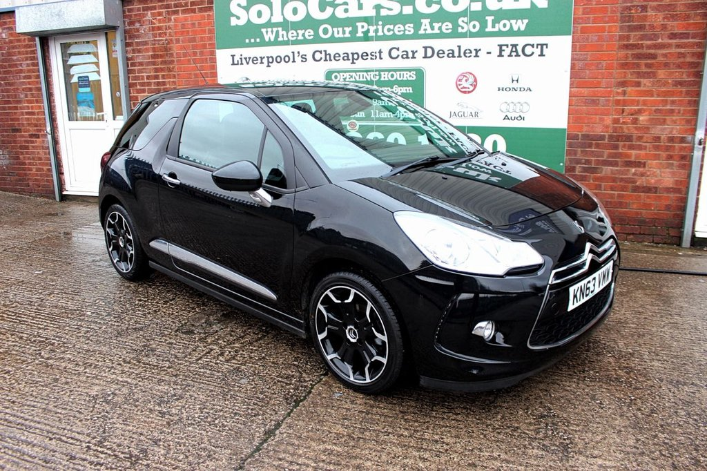 USED 2013 63 CITROEN DS3 1.6 E-HDI DSTYLE PLUS 3d 90 BHP +LOW MILEAGE +BLUETOOTH +EXTRA