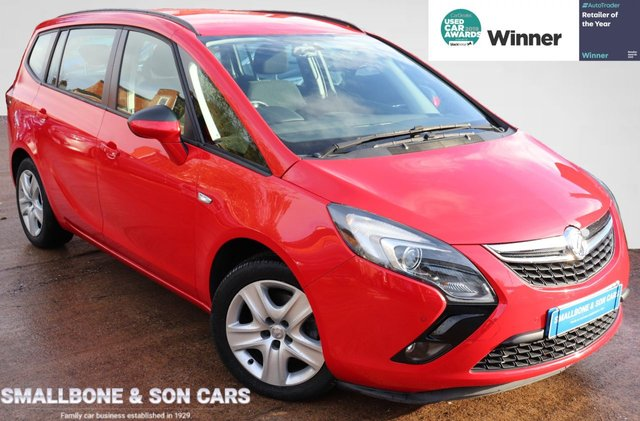 USED 2015 65 VAUXHALL ZAFIRA TOURER 1.4 EXCLUSIV 5d 138 BHP * BUY ONLINE * FREE NATIONWIDE DELIVERY *