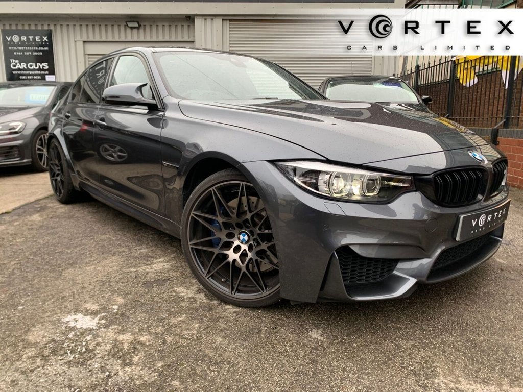 USED 2017 67 BMW M3 3.0 M3 COMPETITION PACKAGE 4d 444 BHP HUD + H/KARDON + FBMWSH + FRONT AND REAR HEATED SEATS + APPLE CARPLAY