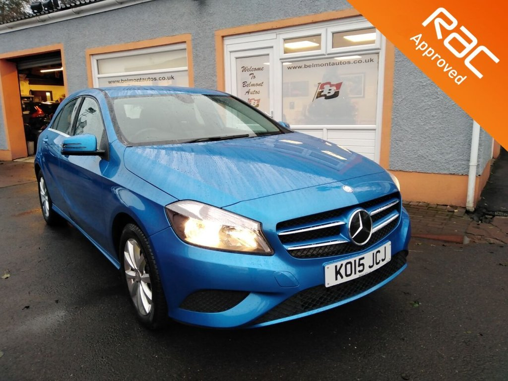 """USED 2015 15 MERCEDES-BENZ A-CLASS 1.5 A180 CDI BLUEEFFICIENCY SE 5d 109 BHP 1/2 Leather, Bluetooth, Cruise Control, 16"""" Alloys, 4 Service Stamps in history, Free RAC Warranty."""